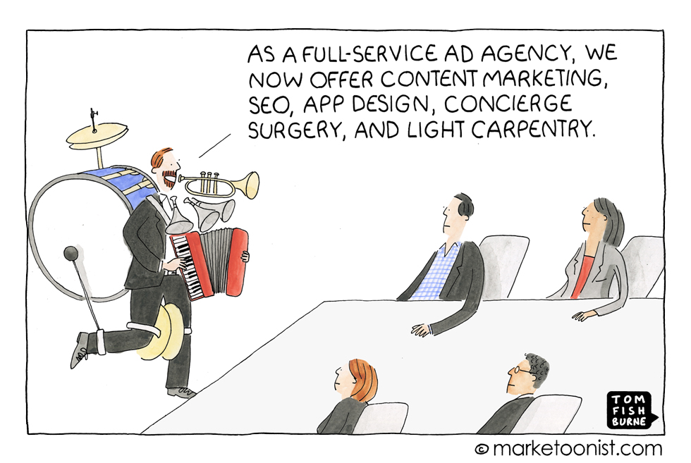 Full-service Agencies, Marketoonist