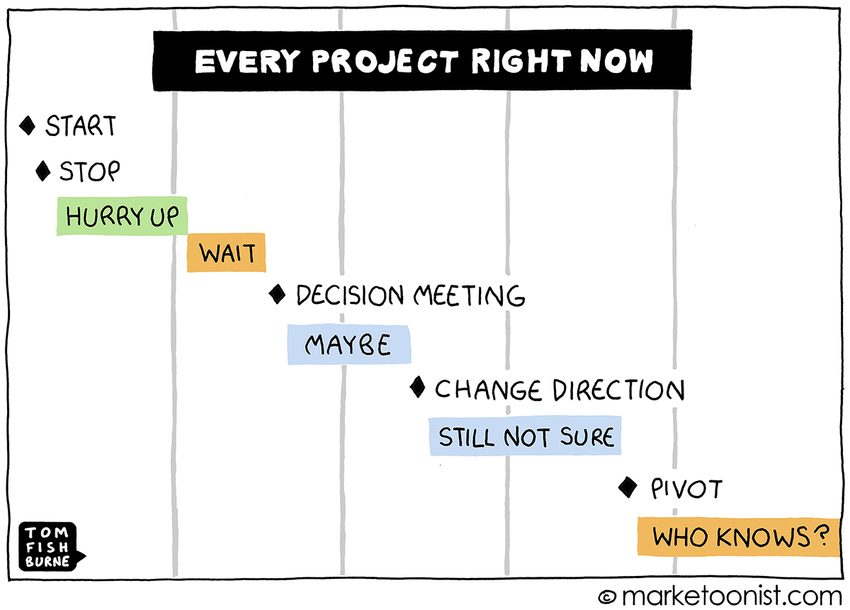 Every Project Right Now cartoon