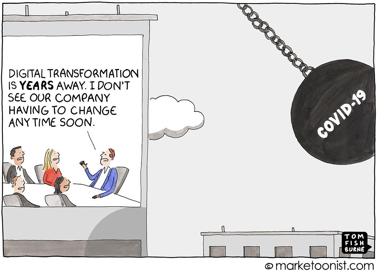 Digital Transformation cartoon