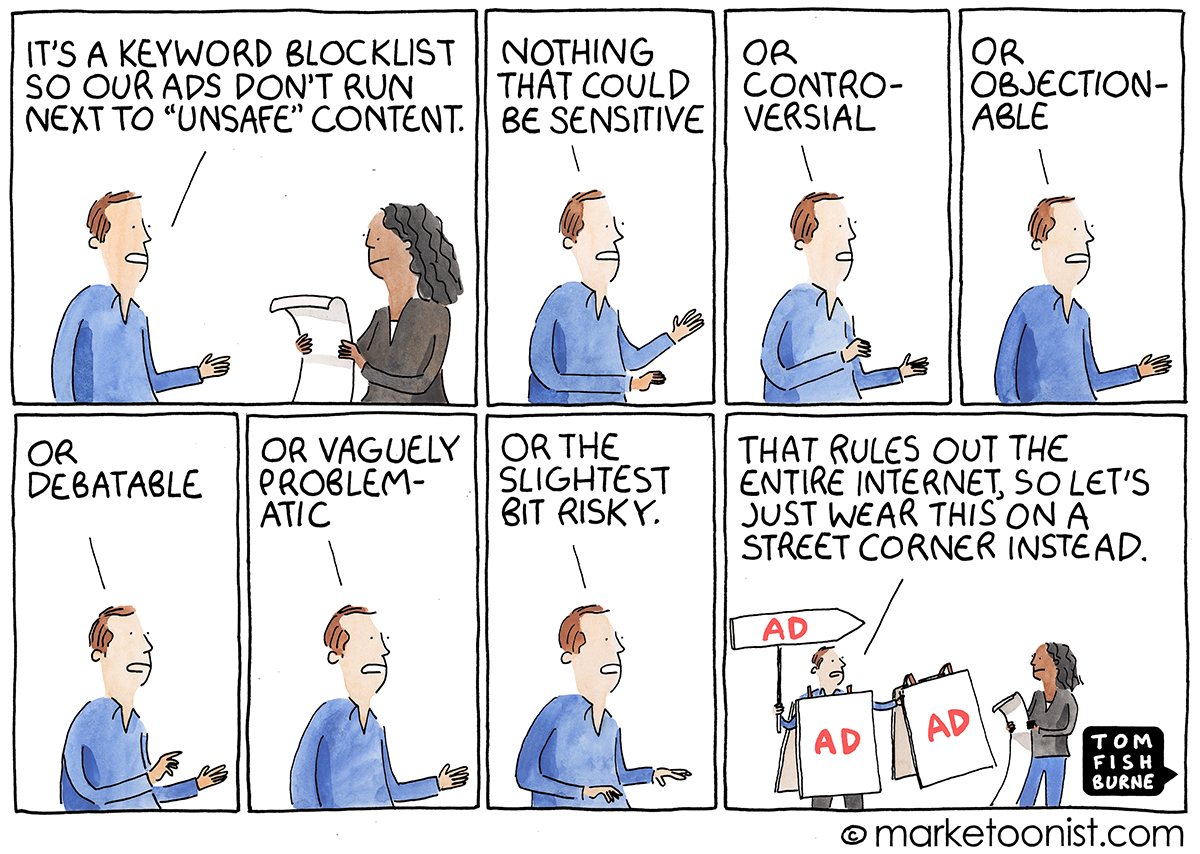 Brand Safety cartoon